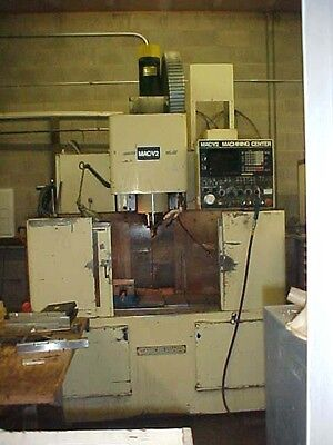 Takisawa Cnc Vertical Machining Center Mac-v2 Fanuc 6m