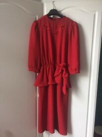 BERKERTEX Ladies Red Dress - UK Size 10
