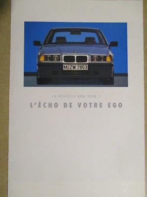 CATALOGUE AUTO : BMW : LA NOUVELLE SERIE 3 - POSTER 3 PAGES