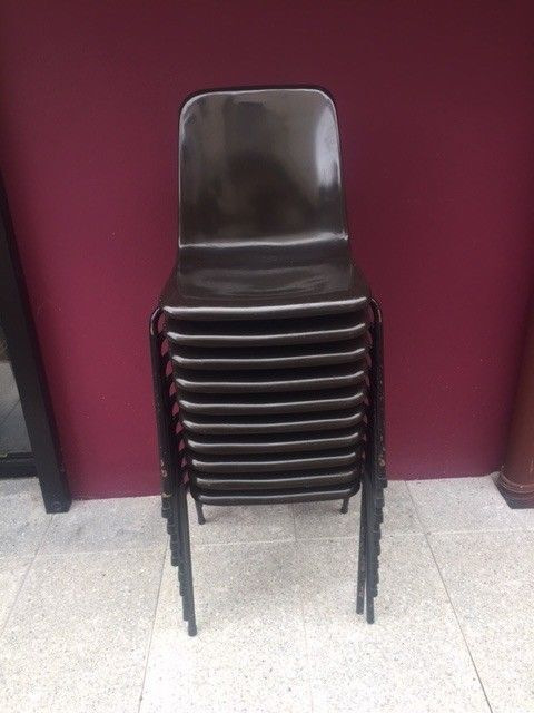Brown stacking chair
