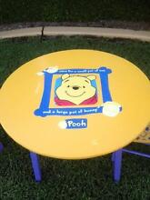 KIDS TABLE & CHAIRS - WINNIE THE POOH DESIGN - V.G. CONDITION Belmont Lake Macquarie Area Preview
