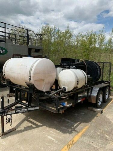 Grout trailer equipped with grout pump, hydraulic hose reel, & mud pump Anderson