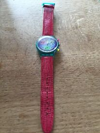 Vintage 1992 Swatch watch chronograph in pristine condition, worn once