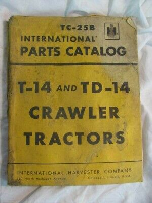 International Ih T-14 Td-14 Parts Manual Book List Catalog Crawler Tractor Guide