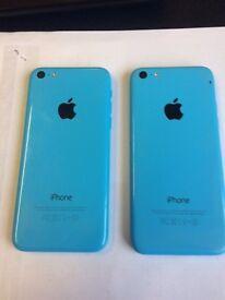 2 x iPhone 5c's