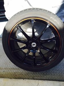 Phat Kat Ultra Racing black rims with General Exclaim UHP tires