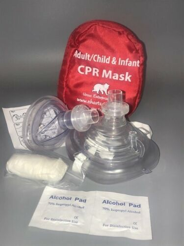 Cpr Mask In Soft Case W/gloves - Adult/child And Separate Mask For Infants
