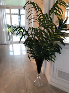 Plante artificielle et vase