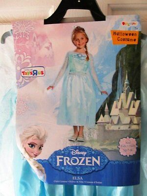 Disney   Frozen Elsa  Disguise  Halloween / Dress-up  Costume  NWT  Sz 7/8  - Disguise Elsa Costume