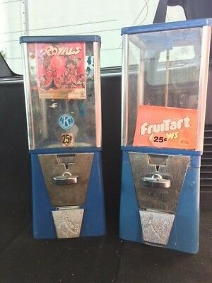 Restore Two 2 Bulk Vending Machines Gumball Candy Toy Nut Oak Aa Eagle