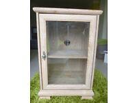 Hi Fi cabinet with glass door and single shelf