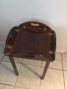 BUTLERS TRAY TABLE FROM BOMBAY COMPANY