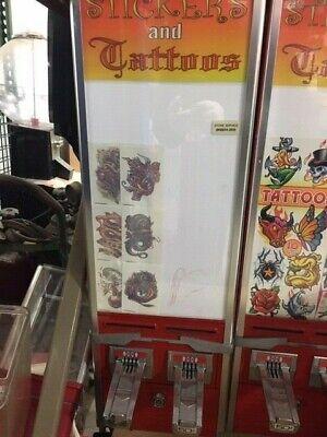 Nw Super 80 Sticker Tattoo Pokemon Sports Magic Baseball Card Vending Machine