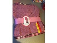 Pink Short Sleeve Pajama Set (BRAND NEW) - Size L