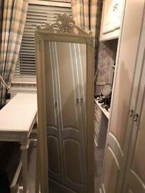 Cream floor standing mirror