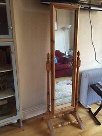 Vintage Style Pine Mirror