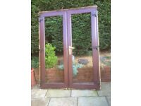 Pair of conservatory double doors.