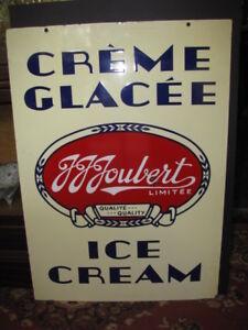 J.J. Joubert Ice Cream Sign