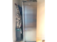 Tall AEG fridge silver, good working order (dishwasher also available)