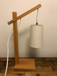 Wood table or office lamp