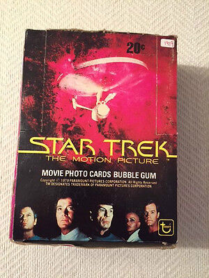 "1979 Topps ""STAR TREK THE MOTION PICTURE"" Wax Box (36) SEALED Packs"