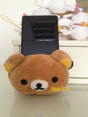 Plush San-x Rilakkuma Bear Pen Container Phone Holder Penholder Tubular Penrack
