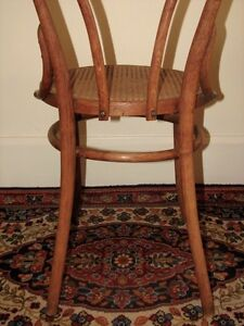 Antique Bentwood Bistro Chair, Woven Cane Seat, Cafe-Style Kitchener / Waterloo Kitchener Area image 8