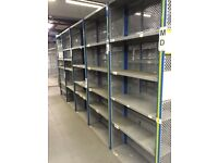 dexion impex industrial shelving 2.4m high x 300mm deep ( storage , pallet racking )