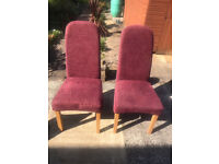 2 Dining Room Chairs, very good condition