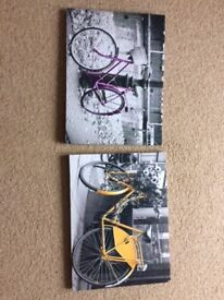 2 Bicycle prints, two for £4 (40x30cm)