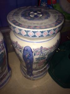 oriental porcelain garden stool