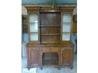 19th century welsh glass top dresser