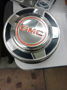 Vintage GMC Dog Dish Hub Caps - set of 4