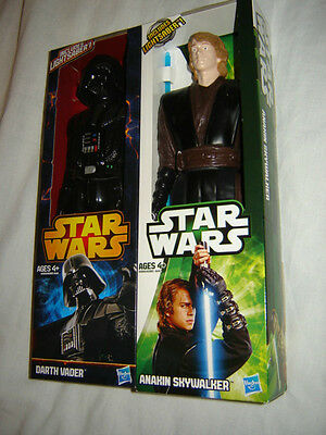 Star Wars Darth Vader & Anakin Skywalker Action Figures 12 Inches Tall