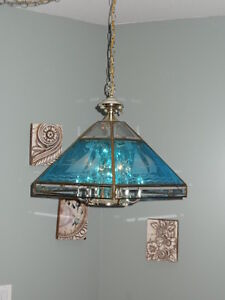 Hanging Etched Lamp