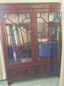 Display cabinet solid mahogany