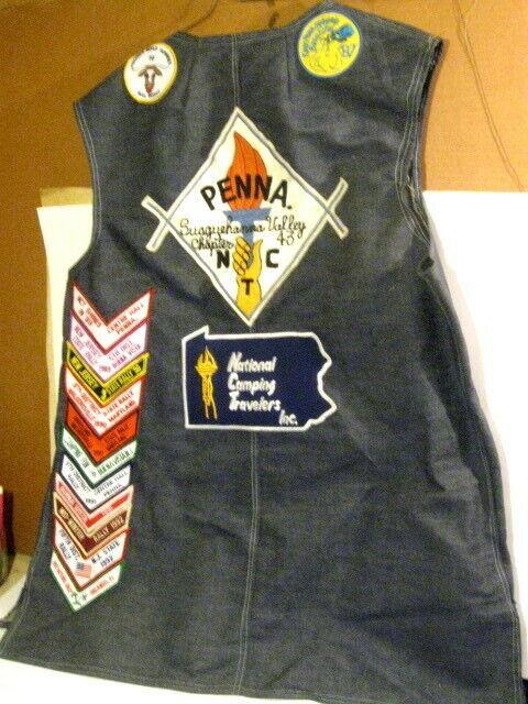 Masonic Families National Camping Travelers Pennsylvania Mason Patch Denim Vest