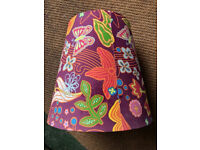 Unusual Groovy 70s style Lampshade Lightshade Pendant Shade Butterfly & Flowers 34cm dia