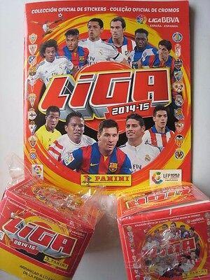 España Panini España Liga Bbva 2014/2015 Lfp 100 Pegatinas Paquetes + Álbum segunda mano  Embacar hacia Spain