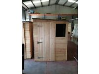 TIMBER GARDEN SHED - 5ft wide by 7ft deep / Single end door.