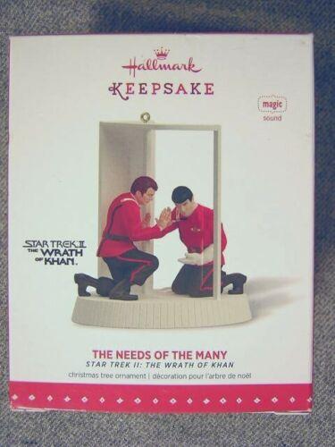 "Rare 2015 Hallmark Star Trek ""The Needs Of The Many"" Magic Ornament"