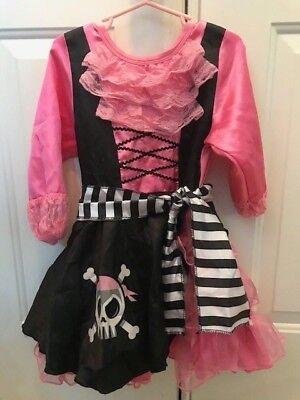 Disney Pirate Princess Costume (Disney Girl's PIRATES of CARIBBEAN PIRATE PRINCESS Dress Costum w/Hat Small)
