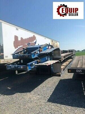 2000 Fontaine 51ft Tri Axle Trailer 50 Ton Lowboy Equipment Rgn Flatbed
