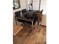 Stylish black wooden table