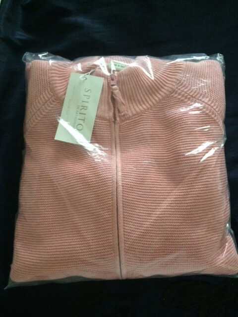 Brand New Ladies Italian Pink Cardigan - Size 28-30