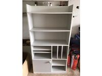 Light Grey Melamine Bookcase