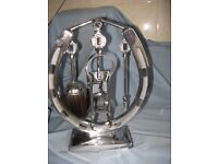 1930 Vintage - Solid metal with a silver gloss finish. Good condition Fire Place Companion