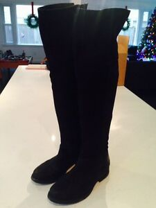 Steve Madden Tall Black Suede Boots- Size 7 London Ontario image 1