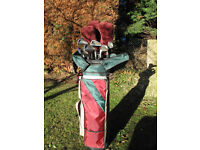 Full set of Golf Clubs, excellent condition, 3 woods, 9 irons and putter complete with bag