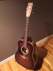 Art & Lutherie Cedar Antique Burst Left Handed Acoustic Guitar